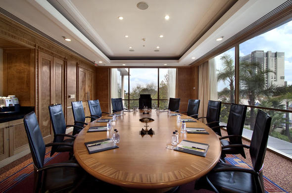 Boardroom at Hilton Sandton Hotel.