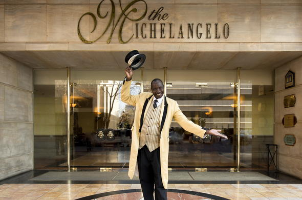 Expect welcoming service at Michelangelo Hotel.
