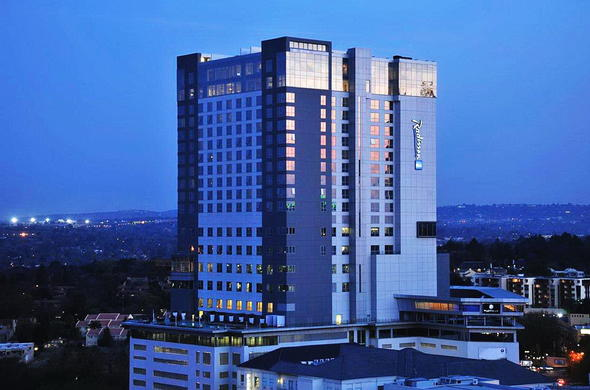 Exterior view of Radisson Blu Hotel Sandton.