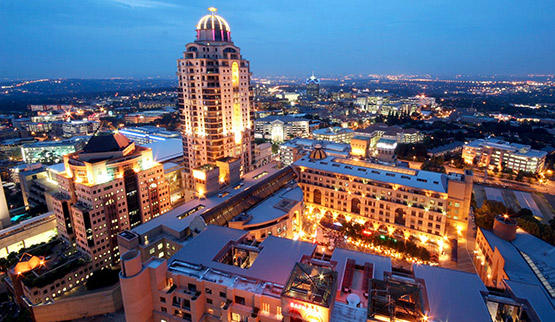 Sandton Hotels by night.