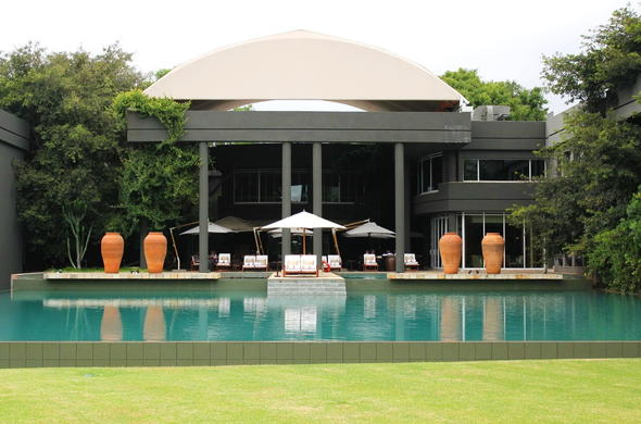 Saxon Hotel, Villas and Spa located in Sandton City.